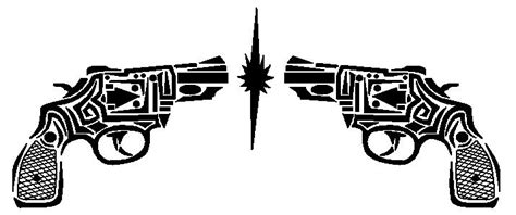 tribal gun tattoos tribal gun by last standing on deviantart
