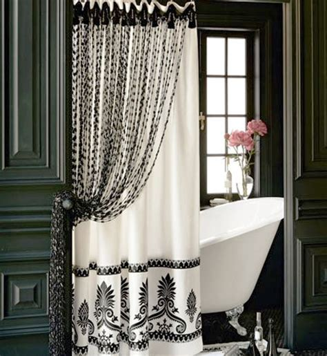 Black And White Bathroom Curtains by Cool Shower Curtains For Your Modern Bathroom Decozilla