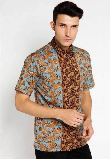 Baju Batik Pria Modern Slim Fit Lengan Pendek Ob 281 ッ 29 model baju batik pria slim fit lengan panjang pendek modern