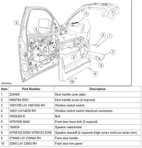 2005 ford f150 interior parts 2005 ford f150 interior parts diagram