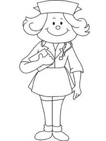 How to draw a nurse coloring page here home nurse how to draw a nurse