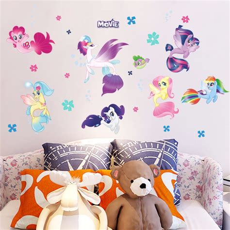 zooyoo cute pony anime wall decals   horse wall