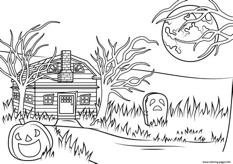 haunted house coloring pages haunted house halloween coloring pages printable