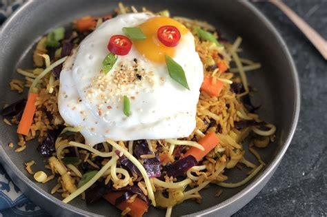 delicious  healthy indonesian dish nasi goreng