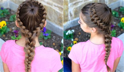 cute girl hairstyles youtube french braid dutch starburst braid cute girls hairstyles makeup videos