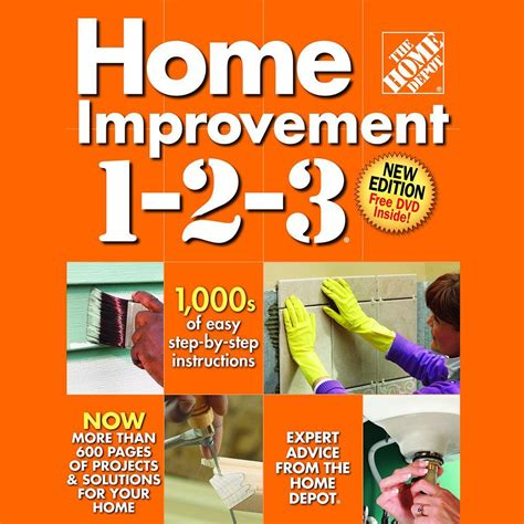diy home depot the home depot home improvement 3rd edition with dvd