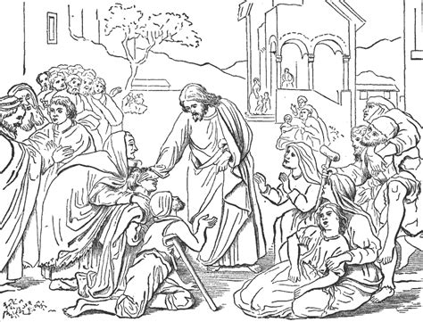 coloring page jesus heals centurion s servant free coloring pages of centurion servant healed