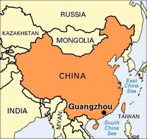 Canton China Map by Guangzhou Location Kids Encyclopedia Children S
