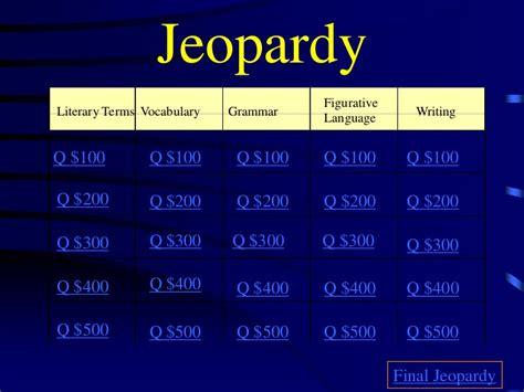 English Jeopardy Ideas For Jeopardy Categories