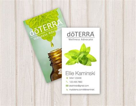doterra business card template the 25 best ideas about doterra business cards on