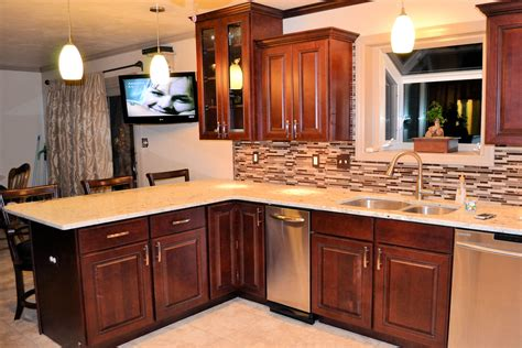 kitchen remodel new tile cabinets and granite countertops ak britton construction llc