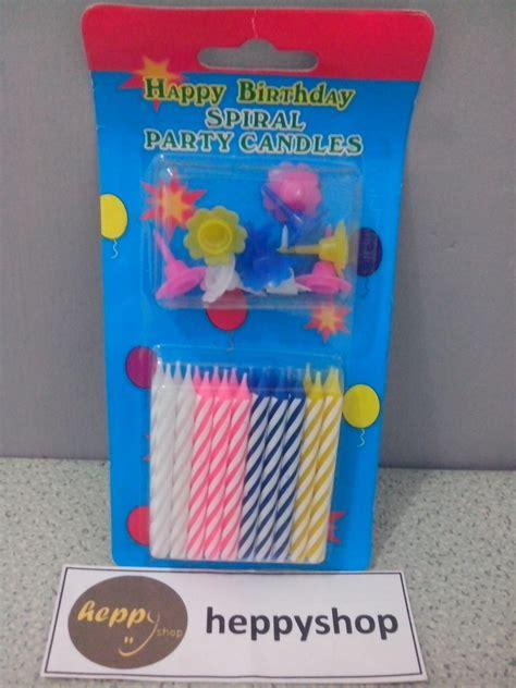 jual lilin ulang tahun spiral sedang heppyshop heppy