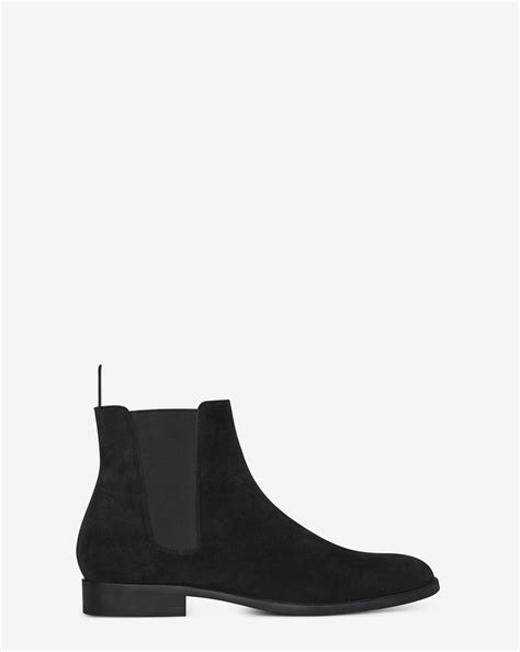 ysl chelsea boots laurent signature chelsea boot in black suede ysl
