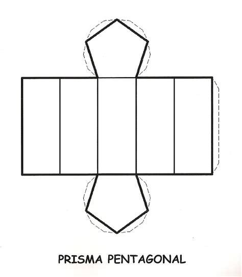 figuras geometricas la prisma prisma hexagonal para recortar y armar imagui