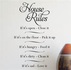 house rules wall stickers house rules wall sticker transfer wa277x