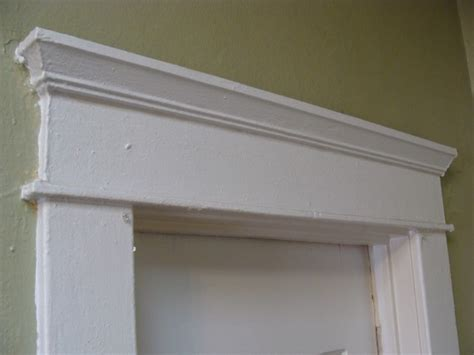 colonial door trim bisquited glued and screwed
