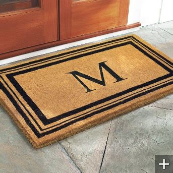 Monogrammed Coco Door Mat Home Pinterest Monogram Front Door Mat
