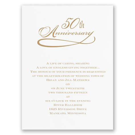 50th anniversary invitations templates classic 50th anniversary invitation invitations by