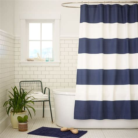 navy blue and white striped shower curtain navy and white striped shower curtain