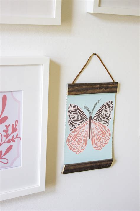 how to hang a picture frame diy project wood and leather hanging frames