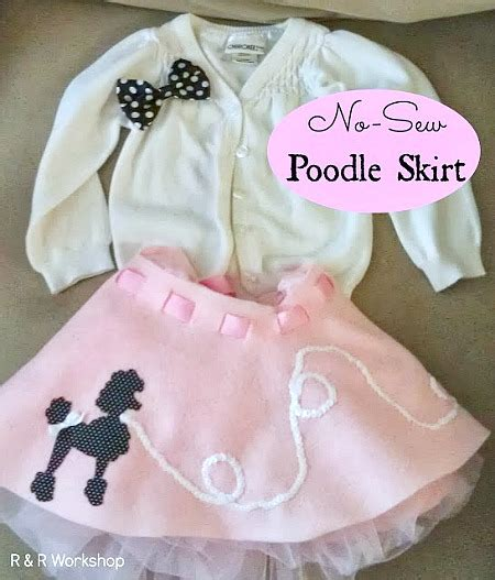 simple pattern for poodle skirt no sew heart mittens a complete no sew applique tutorial