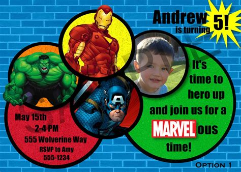 Avengers Birthday Party Ideas Marvel Avengers Birthday Party Invitation By Cre8iveraesdesigns Marvel Invitation Template Free