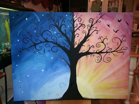 paint nite during the day 1000 images about trees on seasons tree of