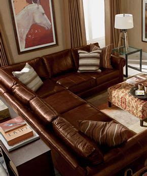 ethan allen explorer living room furniture decorating ethan allen leather sectionals and family rooms on pinterest