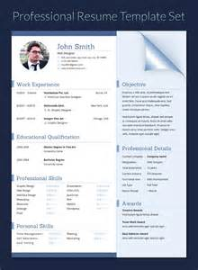 resume in doc docx indd psd eps and ai format by