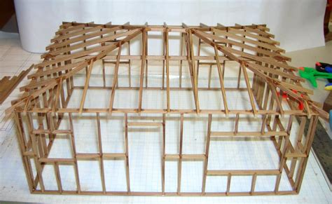 Hipped Roof Framing Smith Pond Junction Railroad Lake Cabin Kit Assembly Tips