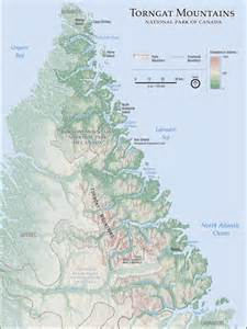 map of canada mountains parks canada torngat mountains national park maps