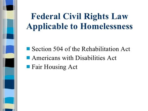 americans with disabilities act section 504 3 9 civil rights and housing for homeless individuals with