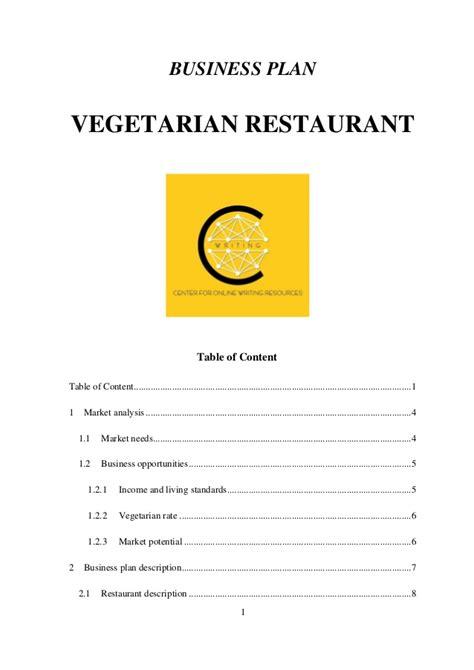 fast food business plan template business plan vegetarian restaurant