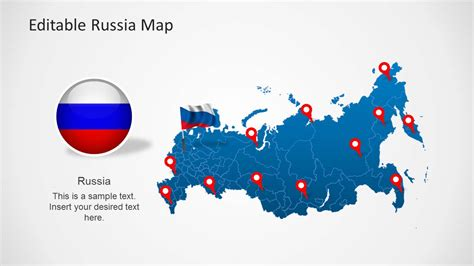 powerpoint templates russia editable russia map template for powerpoint slidemodel