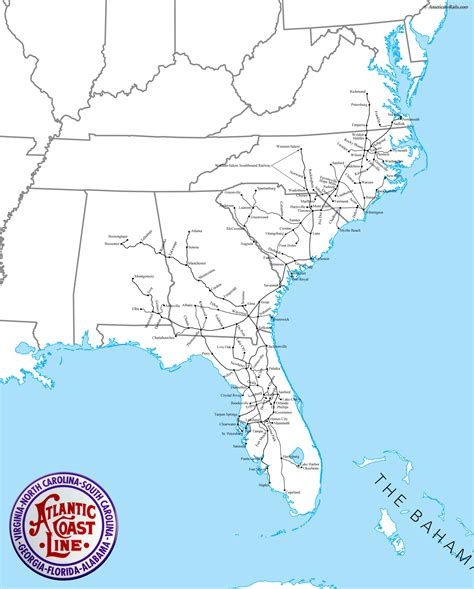 map us atlantic coast the atlantic coast line railroad