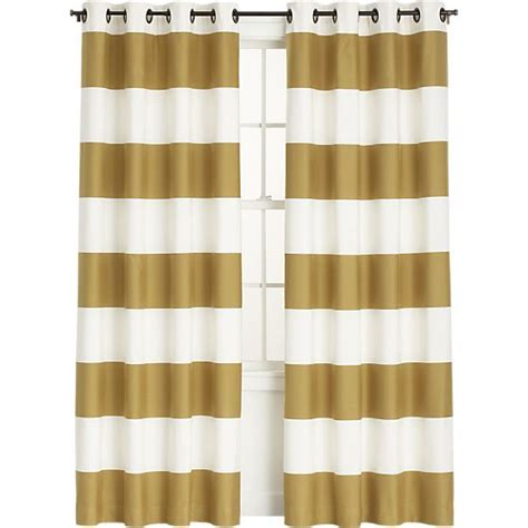 crate and barrel striped curtains alston ivory gold curtains crate and barrel curtain