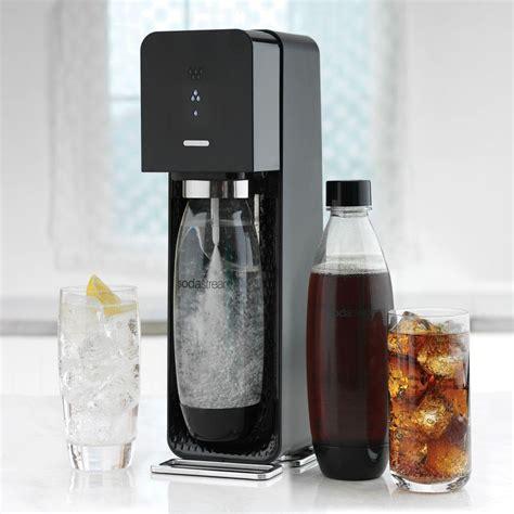 sodastream jet black silver soda maker starter kit