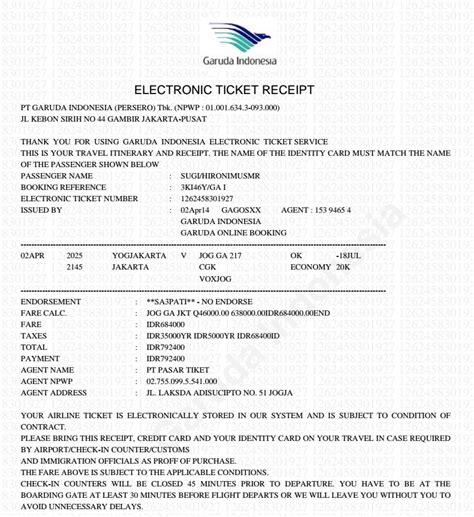 Tiket Jakarta Singapore Pp gambar check tiket garuda mari berbagi 10