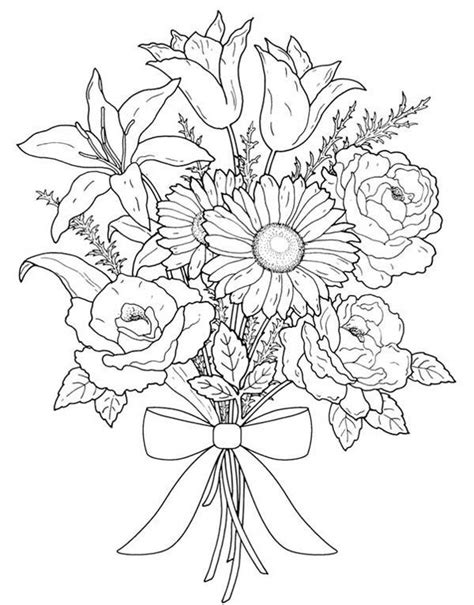 17 Best Images About Flowers On Pinterest Cherry Bouquet Roses Coloring Pages