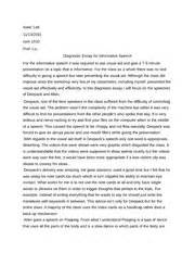 Diagnostic Essay Format by Diagnostic Essay Info Speech Isaac Lati 11 13 2011 1010 Prof Liu