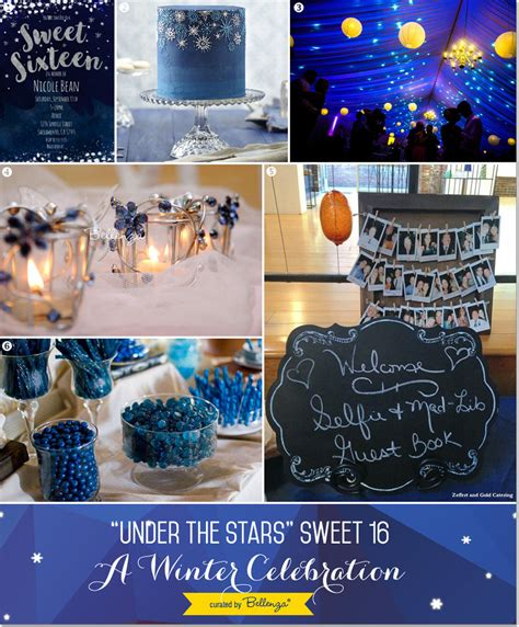 quinceanera themes under the stars quot under the stars quot sweet 16 winter party theme winter