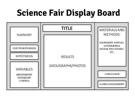 template for science fair project the ins outs of science fairs preparing your display