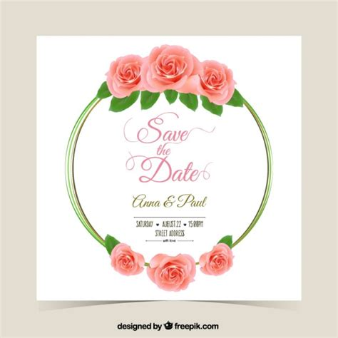 Template Animasi Wedding Free by Wedding Invitation With Roses Vector Premium