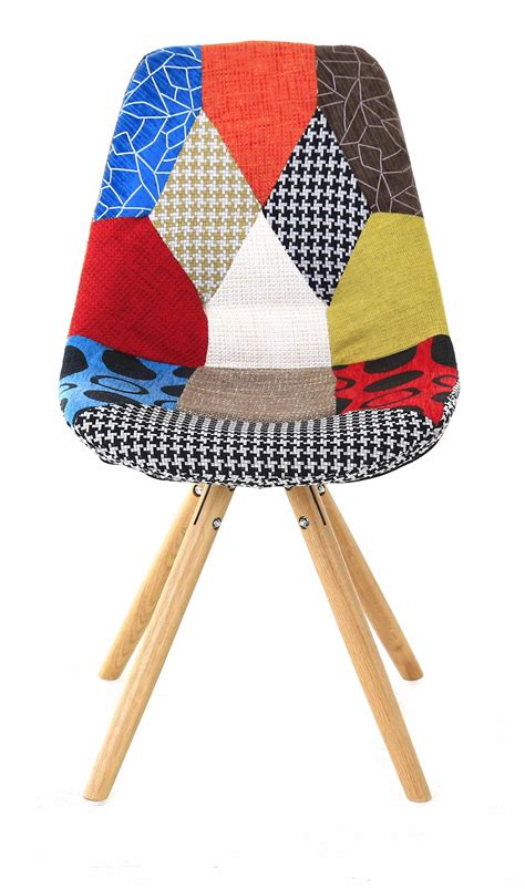 chaise multicolore chaise multicolore patchwork