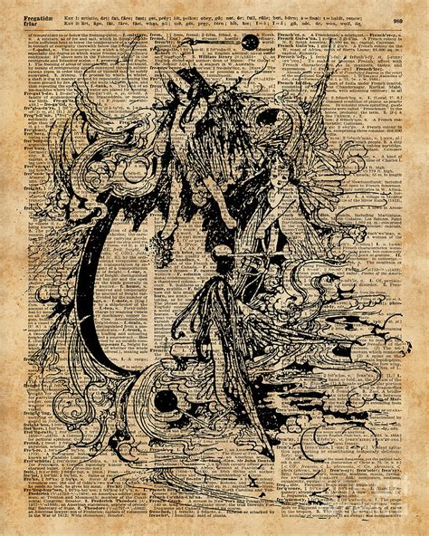 Artwork Book vintage fairies magic illustration antique ink artwork
