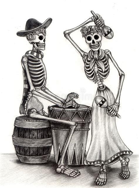 skull art day   dead hand drawing  paper stock