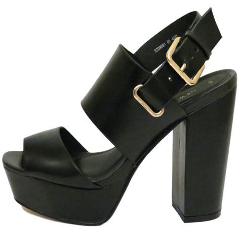 Sandal Heels Garsel E 408 ankle platform chunky high block heel peeptoe
