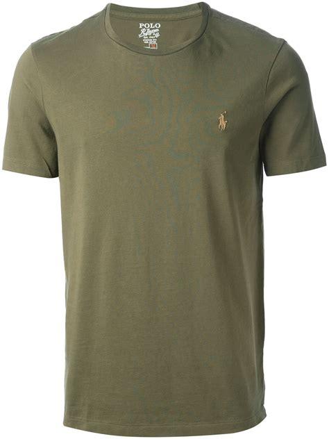 pemborong tshirt polo ralph lauren lyst polo ralph lauren custom fit tshirt in green for men