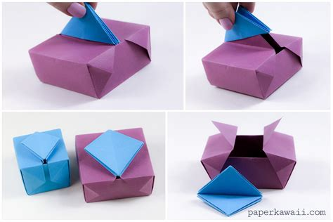 How To Make A Box Out Of Origami - origami gatefold box paper kawaii