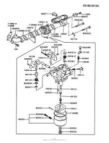 kawasaki fb460v fs08 4 stroke engine fb460v parts diagram for carburetor